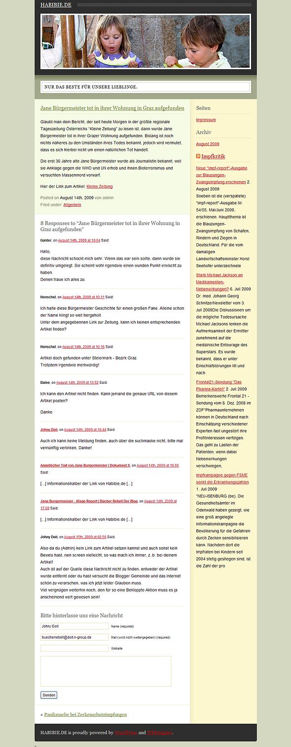 Habibie.de Der Blog mit der gefakten News