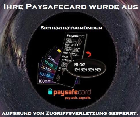 paysafecard sicherheitsgründen gesperrt